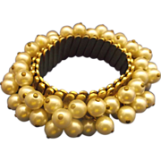 Faux Pearl Expansion Bracelet Cha Cha Cream Colored