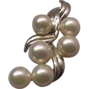 SOLD Mikimoto Sterling Akoya Cultured Pearl Pendant