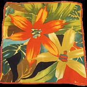Anne Klein Tropical Print Silk Scarf