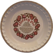 Cherry Pie Plate Baker Pan Royal China Country Harvest