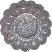 SOLD Indiana Glass Clear Hobnail Egg Plate Tray - Red Tag Sale Item