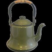 Olive Green Enamel Teapot Japan
