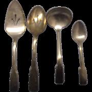 SALE International Silver Patriot Serving Pieces Ladle Pie Server Pierced Spoon