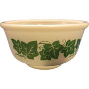 SALE Hazel Atlas Ivy Green Milk Glass Mixing Bowl
