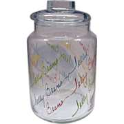 Jelly Beans Clear Glass Canister