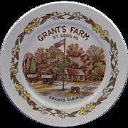 SOLD Grant's Farm St. Louis MO Grant's Cabin Multicolor Transferware Plate