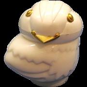 SALE Avon Chick Baby Bird White Milk Glass Bottle