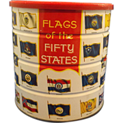 SOLD Hills Bros Coffee Tin Flags of the Fifty States