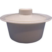 SOLD Pyrex White Margarine Tub With Lid