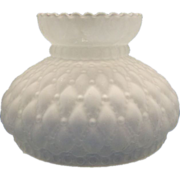 Satin Glass Quilted Diamond Small Lamp Shade