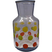 Yellow Green Orange Dots Carafe