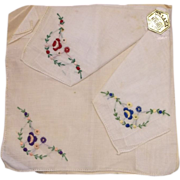 SALE Orlana Swiss Style Kerchiefs Handkerchiefs Embroidered New Old Stock