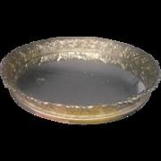 SALE Mirror Dresser Tray Round Gold Filigree Rim