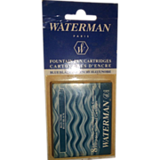 SALE Waterman Ink Cartridge Box of 8 Blue/Black Ink