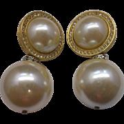 Ann Taylor Rhinestone Faux Pearl Statement Earrings