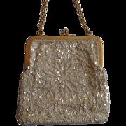SALE Hong Kong Beaded Iridescent Evening Bag