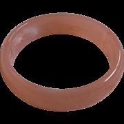 Pink Marbled Lucite Bangle Bracelet