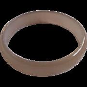 Smoky Grey Brown Bangle Bracelet Lucite