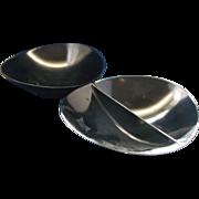 SOLD Florence by Prolon Black Melmac Oval Modern Serving Bowls