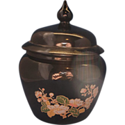 Avon Black Glass Ginger Jar