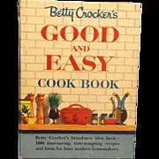 Betty Crocker Good and Easy Cookbook Spiral Bound 1954`