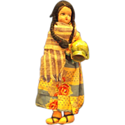 Native American or South/Central American Cloth Souvenir Doll