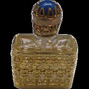 SALE Filigree Gold Tone Metal Encased Perfume Bottle Made in France