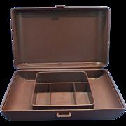 SALE Tupperware #1624 Personal Valet Case Organizer Brown Plastic