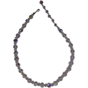 Coro Aurora Borealis Crystal Necklace Choker Single Strand