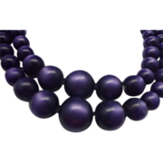 SALE Purple Moonglow Double Strand Necklace Choker