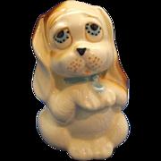 Hand Painted Dog Figurine Basset Hound Pottery