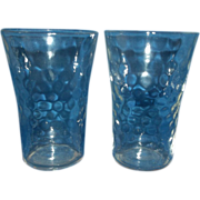 Federal Raindrops Small Tumblers Clear Depression Glass 3""