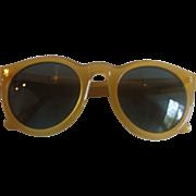 DKNY Bausch & Lomb Yellow Plastic Sunglasses 1980s SOHO K0105H