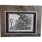 Archie's Sketches Historic New Orleans Roofing Slate Artwork