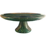 SOLD Wexford Emerald Green Cake Stand Anchor Hocking