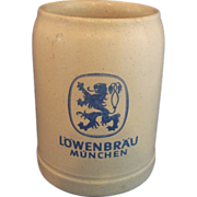 SALE Lowenbrau Munchen .5L Salt Glazed Beer Stein Germany