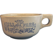 Western Stoneware Bill of Fare Soup Mug Monmouth Pottery Maple Leaf