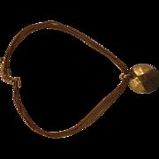 SALE Liz Claiborne Gold Tone Faceted Disc Pendant Cord Necklace