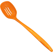 SALE Bright Orange Melmac Melamine Slotted Serving Spoon Made in Taiwan