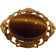 Tiger Eye Oval Cab Pin 1/12 12K Pin