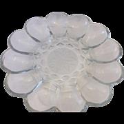 Princess House Fantasia Crystal Deviled Egg Plate