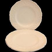 Indiana Glass Milk Glass Orange Blossom Indiana Custard Dinner Plates