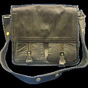 SALE Dofan Black Leather Cross Body Saddlebag Messenger Bag Style Purse France