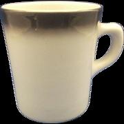 SALE Restaurant Ware Mug Black Fade Ombre Rim
