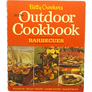 Betty Crocker's New Outdoor Cookbook Barbecues Hard Cover Spiral Ring Bound 1967 First Edition
