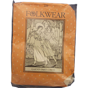 Folkwear Uncut Sewing Pattern Edwardian Garden Party Dress 220 D Women's Sizes 8-14