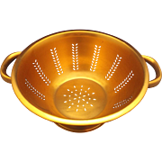 Aluminum Copper Colored Colander