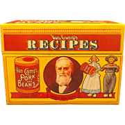 SALE Van Camp's Pork and Beans Recipe Box 1986