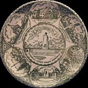 Gettysburg Green Transferware Souvenir Plate Small