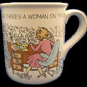 Hallmark Mug Mates 1986 Relax There's a Woman on the Job